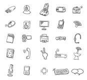 Web geplaatste de pictogrammen van verschillende media - vectorillustratie Royalty-vrije Stock Foto's