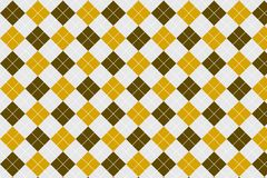 Brown - Yellow Gingham pattern vector illustration