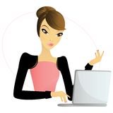 Web girl Stock Images