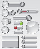 Web glass button illustration Royalty Free Stock Photography