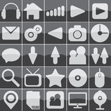 Web glass icons Stock Photos