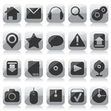 Web glass icons Stock Images