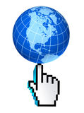 Web global de Norteamérica Estados Unidos del Internet Imágenes de archivo libres de regalías