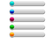 Web glossy buttons Stock Photography
