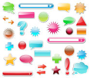 Web glossy elements collection Stock Photos