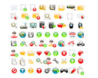 Web glossy icons Stock Photography