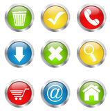 Web glossy icons vector Royalty Free Stock Photos