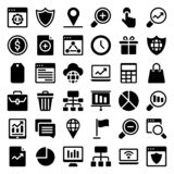 Web Glyph Icons  Pack stock illustration