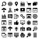 Web Glyph Icons Set royalty free illustration