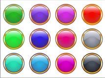 Web golden buttons Stock Photos