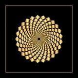 Web gráfica do rombo do ouro no círculo concêntrico com um núcleo aberto Projeto gráfico Ilustração do vetor Projeto do fundo mod Foto de Stock Royalty Free