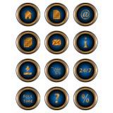 Web grande do jogo dos ícones Imagem de Stock Royalty Free