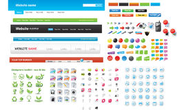 Web graphic collection Stock Image