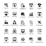 Web and Graphic Designing Solid Icons Design SetWeb and Graphic Designing Glyph Icons Pack Royalty Free Stock Image