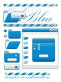 Web graphic interface blue channel Stock Photography