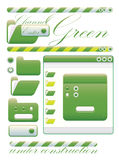 Web graphic interface green channel Royalty Free Stock Image