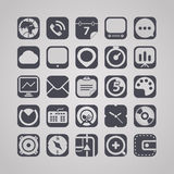 Tablet device interface icons Royalty Free Stock Photo