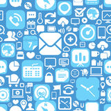 Web icons seamless background Royalty Free Stock Photography