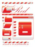 Web graphic interface red channel Stock Image