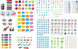 Web graphics. A large set of web graphics Stock Photo