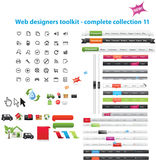 Web graphics collection. A set of web graphics Royalty Free Stock Image