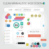 Web graphics. A set of designed web graphics and icons Stock Photo
