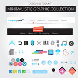 Web graphics. A set of designed web graphics and icons Royalty Free Stock Photos