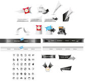 Web graphics. A set of designed web graphics and icons Royalty Free Stock Photo