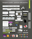 Web graphics. A set of designed web graphics and icons Royalty Free Stock Image