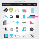 Web graphics. A set of flat designed web graphics and icons Stock Photos