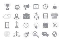 Web gray  icons set. Set of 24 Web gray  icons Stock Images