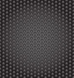 Web gray perforated metal Stock Image