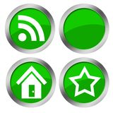 Web green buttons Royalty Free Stock Images