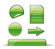 Web green icons. Modern shiny  icons, great looking on web Stock Photo