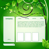 Web green template Royalty Free Stock Photography