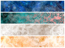 Web grungy headers Stock Image
