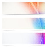 Web header abstract wave line collection. Vector illustration Stock Photos