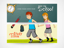 Web header or banner of back to school. Stock Image