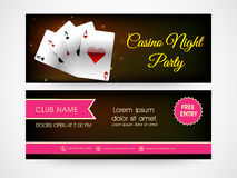 Web header or banner for casino party. Royalty Free Stock Photos