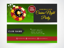 Web header or banner for casino. Royalty Free Stock Photo