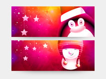 Web header or banner for Christmas celebration. Royalty Free Stock Images