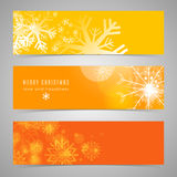 Web header or banner design for Merry Christmas celebration. Beautiful snowflake decorated website header or banner set for Merry Christmas celebration Stock Images