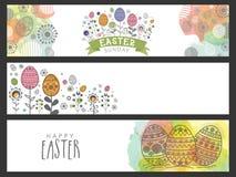 Web header or banner for Easter celebration. Stock Photography