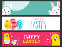 Web header or banner for Easter celebration. Royalty Free Stock Photography