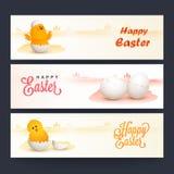 Web header or banner for Easter celebration. Stock Image