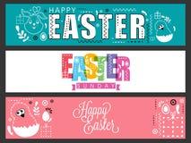 Web header or banner for Easter celebration. Stock Photo
