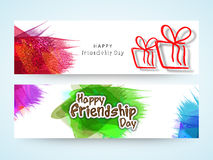Web Header or Banner for Friendship Day. Royalty Free Stock Photo