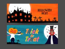 Web header or banner for Halloween Night. Royalty Free Stock Photography