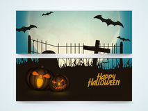 Web header or banner for Halloween party celebration. Royalty Free Stock Photos