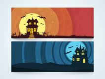 Web header or banner for Halloween party celebration. Royalty Free Stock Photography
